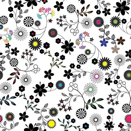 Bloem abstracte naadloze vector achtergrond, kunst, patroon stof textuur Bloemen vintage design Pretty leuke wallpaper Romantische cartoon vrouwelijke filigraan tegel