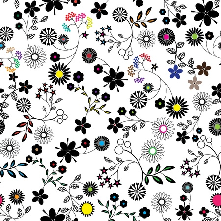 cute wallpaper: Resumen de flores de fondo sin fisuras vector patr�n de textura de tela de Arte Floral dise�o vintage muy lindo fondo de pantalla de dibujos animados rom�ntica femenina filigrana de baldosas