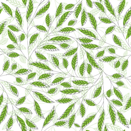 Leaf floral abstract seamless vector background. Art  pattern. Fabric texture vintage design. Pretty cute wallpaper filigree tile. Vector