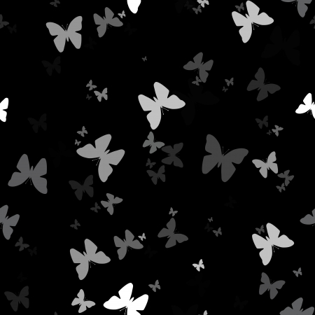 Seamless background with pattern of butterfly, nature vector illustration  Element for design  Stock Vector - 14087127