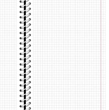 Naadloze website zakelijke achtergrond met metalen spiraal, ontwerp notebook patroon