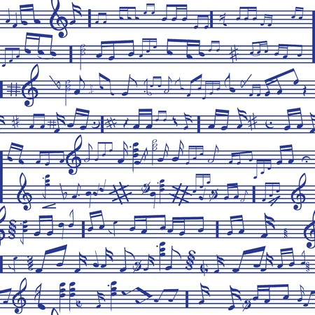 Music note sound texture background  Fabric design element