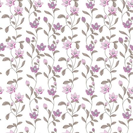 Art bloempatroon Naadloze patroon stof textuur Bloemen vintage design Pretty leuk behang Romantische cartoon vrouwelijke filigraan tegel