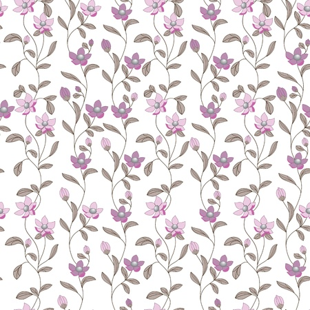 Art flower pattern  Seamless pattern  Fabric texture  Floral vintage design  Pretty cute wallpaper  Romantic cartoon feminine filigree tile