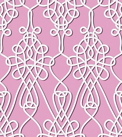Retro naadloze achtergrond Vintage keltik Ierse wallpaper textuur vector illustratie patroon keltische stijl