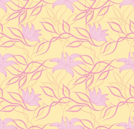 Art vector flower pattern  Seamless pattern  Fabric texture  Floral vintage design  Pretty cute wallpaper  Romantic cartoon feminine filigree tile Stock Vector - 16461048