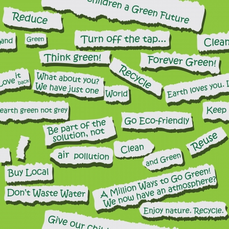 ecologic: Seamless papel rasgado lema pieza de fondo Vector palabra ecol�gico oportunidad ilustraci�n