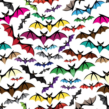 Halloween bat seamless pattern. Holiday vector. Isolated on white. Stock Vector - 16790641