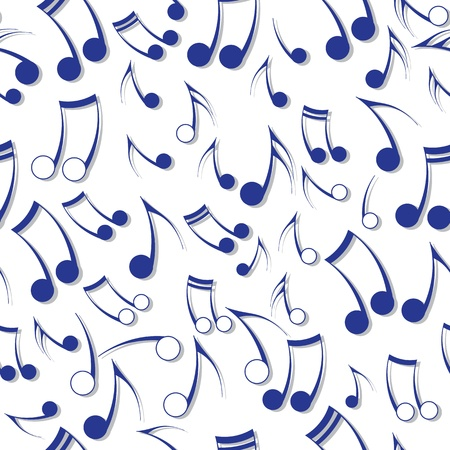 Music note sound texture  Seamless vector background  Fabric design element  Vector