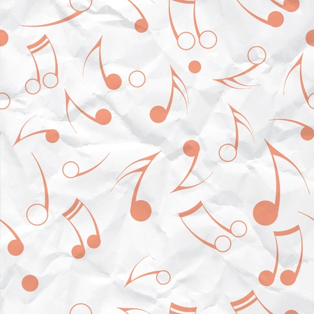 Music note paper texture  Seamless vector background  Fabric design element  Stock Vector - 17742388