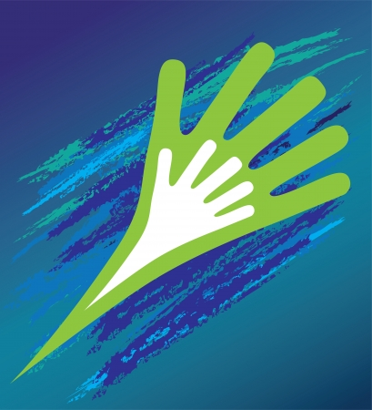 moral: Hand of the child in father encouragement help  Support moral