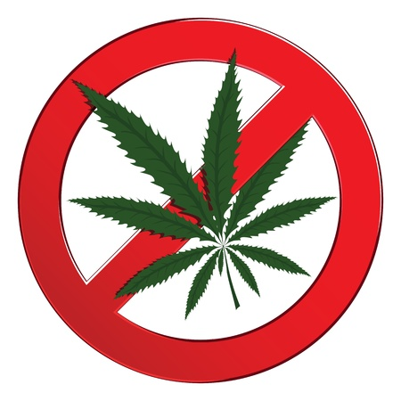 Sign forbidden circle drug cannabis  Symbol no narcotic isolated  illustration  Stock Vector - 18339070