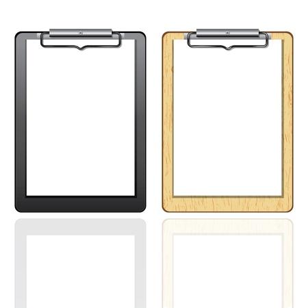 Klembord leeg document. Vector element voor ontwerp geïsoleerd op wit. Stock Illustratie