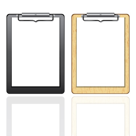 Clipboard blank paper. Vector element for design isolated on white.