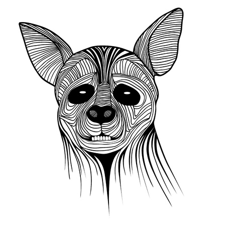 Hyena animal sketch tattoo symbol illustration. Wild dog t-shirt vector icon design. African travel design. Vector