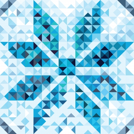 Seamless pattern of geometric snowflake  Colorful mosaic banner triangle vector hipster background  Stock Vector - 20028263