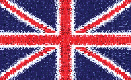 British flag of the United Kingdom of great britain and Northern Ireland triangle background illustration Illustration