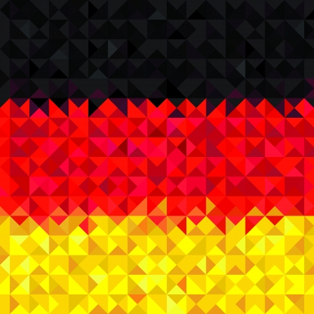 Germany Flag  Grunge mosaic geometric pattern banner triangle vector Stock Vector - 20856373
