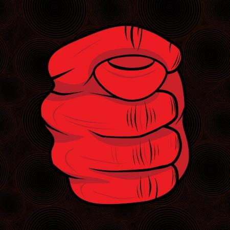 desprecio: Hand sign fig gesto de desprecio en el c�rculo sin patr�n, vector de fondo ofensivo s�mbolo Dulya abusivo
