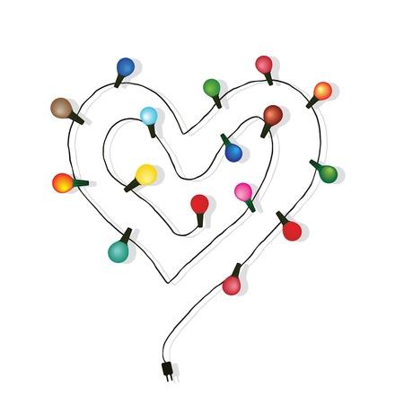 metal light bulb icon: Heart love light bulb wedding vector  Valentine s day or christmas background