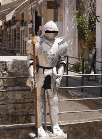 full metal jacket: Medieval knight vintage european full body armor suit photo
