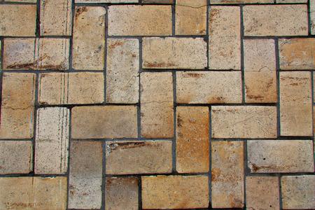 yellow stone: Yellow Stone ladrillo textura de la roca carretera foto
