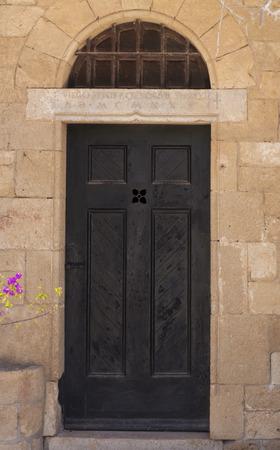 ornamented: Ornamented wood ancient door
