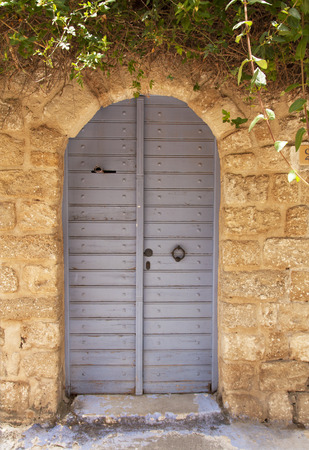 ornamented: Ornamented rusty ancient door