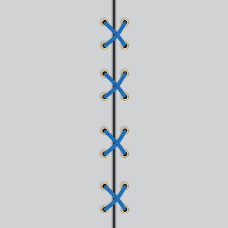 vector shoe lace black symbol. Shoelaces. Illustration