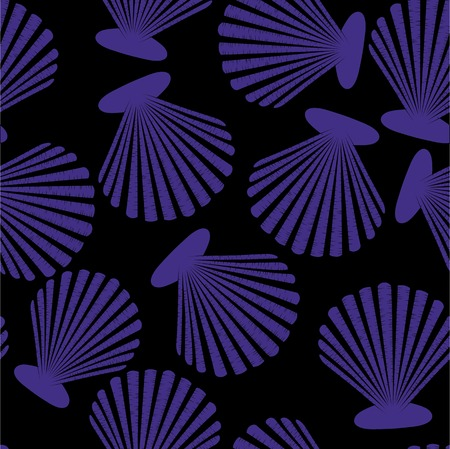 Shells seamless pattern. Vector seashells design Vector