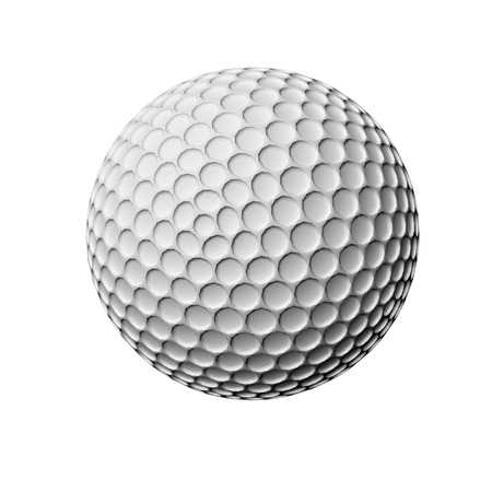 golf  ball: golf ball isolated on white background