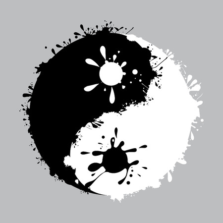daoism: yin-yang with the ink dripping
