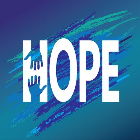 Mão de encorajamento esperança. Support Vector moral