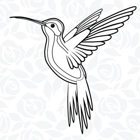 Colibri or Hummingbirds for logo, icon, t-shirt, mascot, poster vector illustration for t-shirt. Sketch tattoo design. Illustration