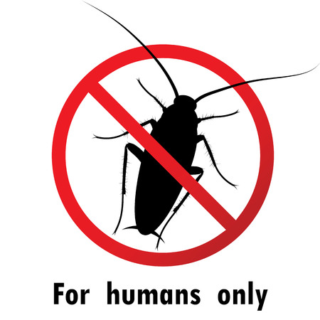 disgusting animal: Stop cockroach sign.