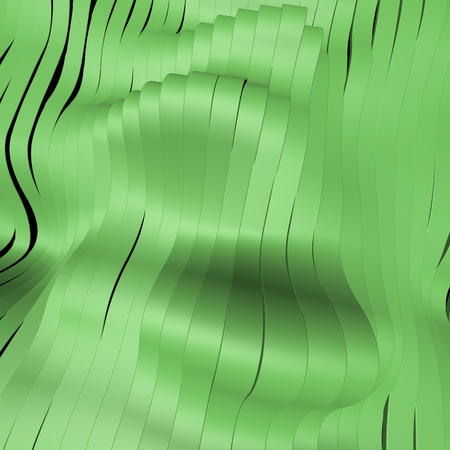 Green abstract silver stripe pattern background 3d illustration Stock Photo