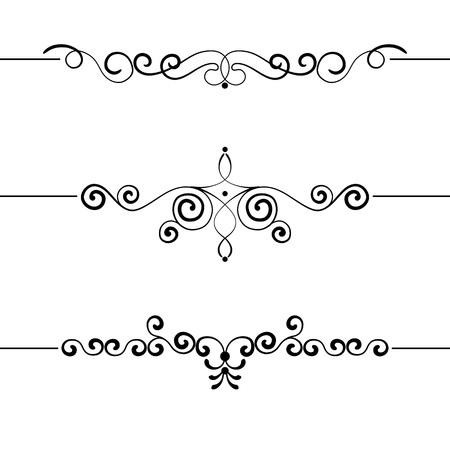 Set of vintage decorative curls, swirls, monograms and calligraphic borders vector