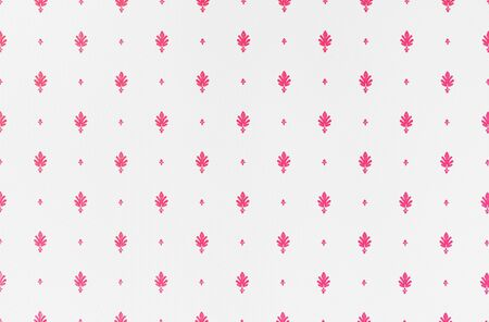 Red and white fleur de lis seamless pattern design.