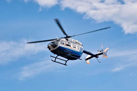 2020-09-06, Mendoza, Argentina. An Airbus EC145 helicopter, belonging to the public safety department of Mendoza, Argentina.