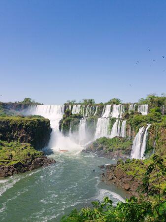 panoramic view of world nature wonder iguazu falls in south america Imagens