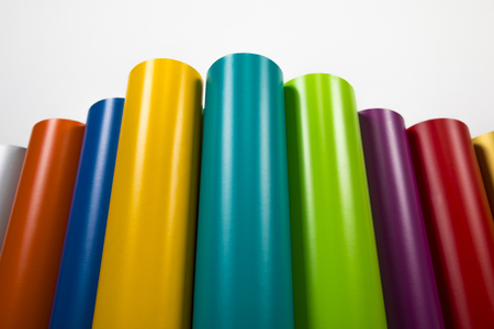 Vinyl rolls of many colors