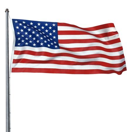 amerikan flag (clipping path)
