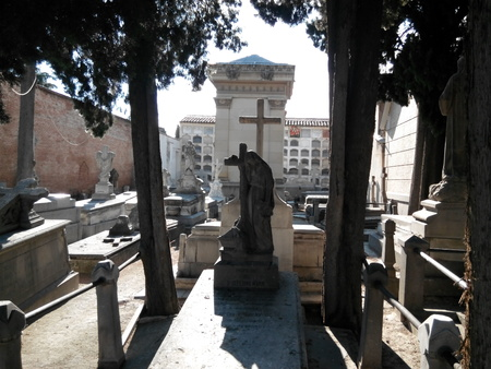 Cemetery Carabanchel, Madrid graves and tombstones Editorial
