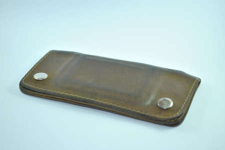 valuable: leather wallet , purse,old purses Valuable ,Brown