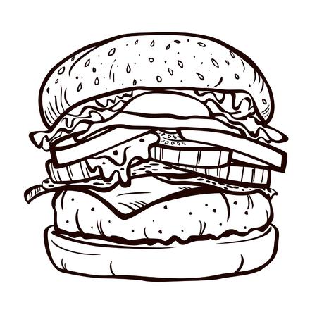 delicious: delicious burger Illustration