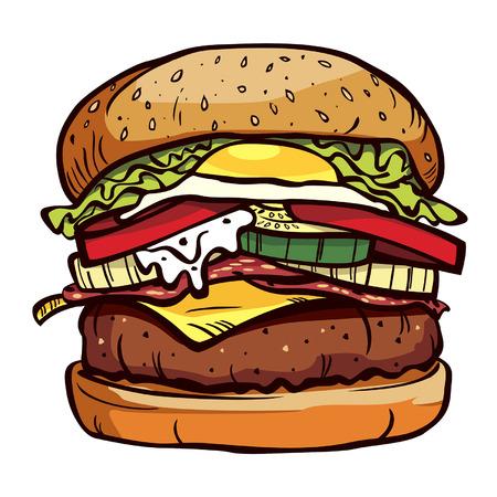 delicious burger  イラスト・ベクター素材