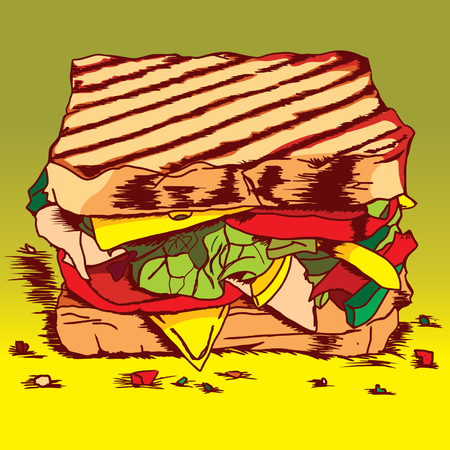 wholemeal: Sandwich with lettuce,tomato,meat,and cheese FC