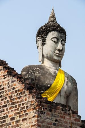 chaimongkol: Statue of Buddha at WatYaiChaimongkol in Ayutthaya