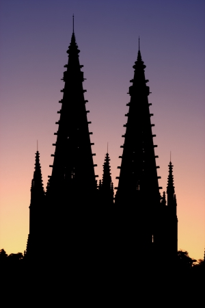 castles needle: Burgos Cathedralis a gothic cathedral located in north of Spain