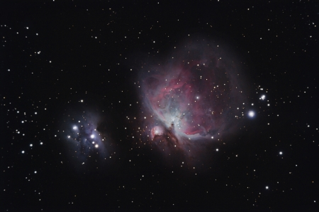 Real Orion Nebula photography taken with telescope photo